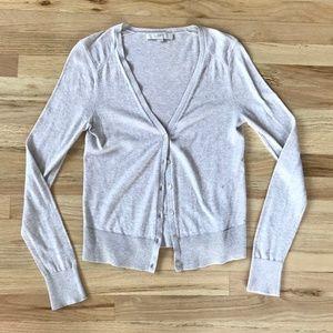 Ann Taylor Loft Oatmeal Beige Cardigan Sweater XS